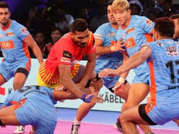 gujarat fortune giants win another match in pro kabaddi league 2018