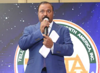 satish-vemana-on-stage-in-tana-22nd-conference