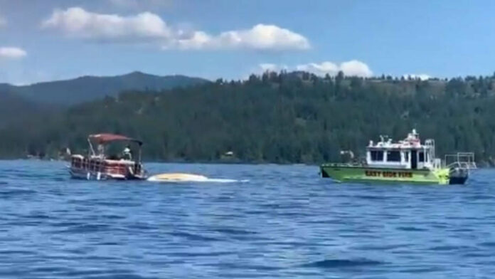 At least 8 killed in plane collision at Idaho lake