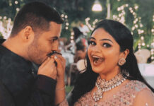 actress-vidyullekha-raman-and-sanjay-engagement-still