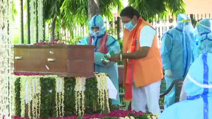 Former President of India Pranab Mukherjee Last Rites